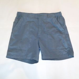 Roundtree & Yorke Grey WASHED UTILITY CARGO Shorts